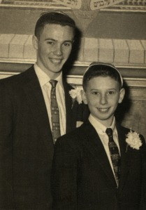 Robert and Jay Neugeboren as teenagers.