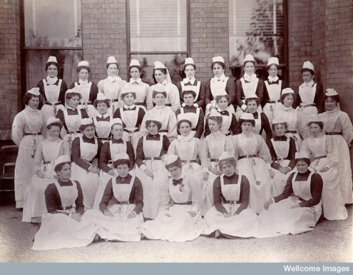 Nurses at Claybury Asylum, Essex, 1890s. © Wellcome Library, London
