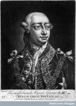 L0025613 King George III. Mezzotint after T. Frye.